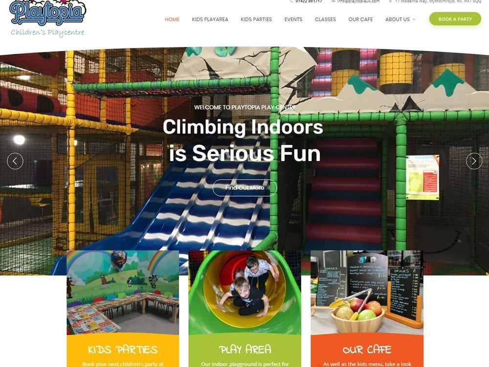 website screenshot for playtopia in halifax