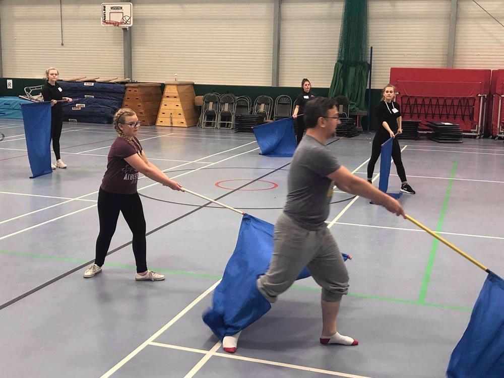 tony creating some dance work to teach byba members