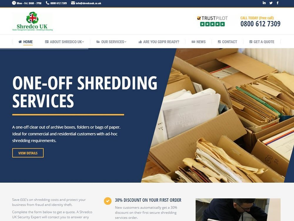 website for shredding company in halifax